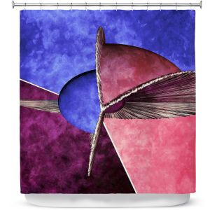 Premium Shower Curtains | Angelina Vick - Abstract 24 | Shapes colors artistic