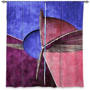 Decorative Window Treatments | Angelina Vick - Abstract 24 | Shapes colors artistic