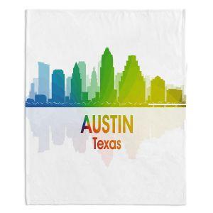 Decorative Fleece Throw Blankets | Angelina Vick - City I Austin Texas