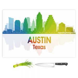 Artistic Kitchen Bar Cutting Boards | Angelina Vick - City I Austin Texas