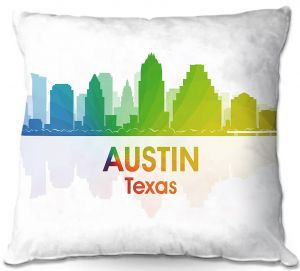 Throw Pillows Decorative Artistic | Angelina Vick - City I Austin Texas