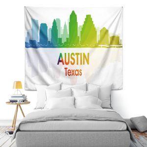Artistic Wall Tapestry | Angelina Vick - City I Austin Texas