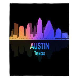 Decorative Fleece Throw Blankets | Angelina Vick - City V Austin Texas