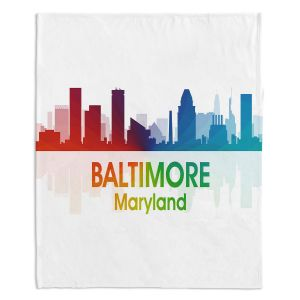 Artistic Sherpa Pile Blankets | Angelina Vick - City I Baltimore Maryland