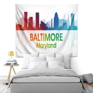 Artistic Wall Tapestry | Angelina Vick - City I Baltimore Maryland