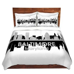 Artistic Duvet Covers and Shams Bedding   Angelina Vick - City IV Baltimore Maryland