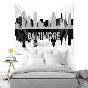 Artistic Wall Tapestry | Angelina Vick - City IV Baltimore Maryland