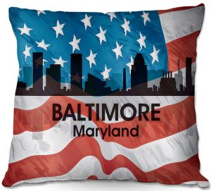 Decorative Outdoor Patio Pillow Cushion | Angelina Vick - City VI Baltimore Maryland