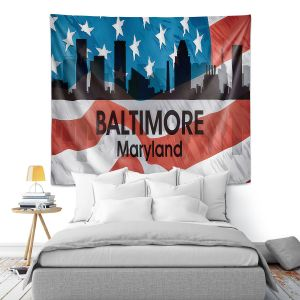 Artistic Wall Tapestry | Angelina Vick - City VI Baltimore Maryland
