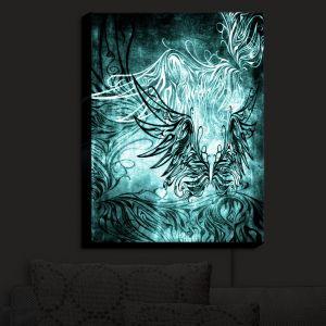 Nightlight Sconce Canvas Light | Angelina Vick - Bird Gothic Aqua