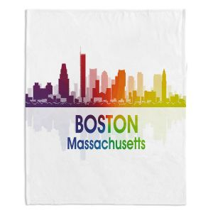 Decorative Fleece Throw Blankets | Angelina Vick - City I Boston Massachusetts
