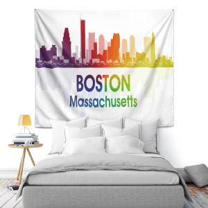 Artistic Wall Tapestry | Angelina Vick - City I Boston Massachusetts