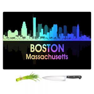 Artistic Kitchen Bar Cutting Boards | Angelina Vick - City V Boston Massachusetts