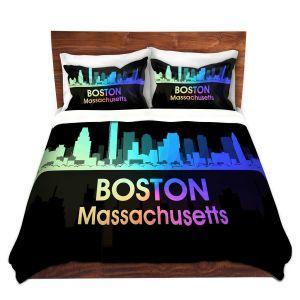 Artistic Duvet Covers and Shams Bedding   Angelina Vick - City V Boston Massachusetts