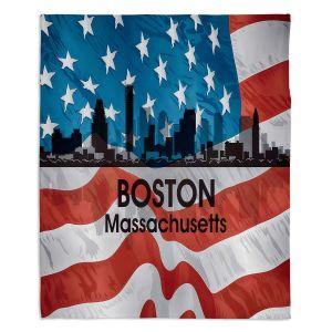 Decorative Fleece Throw Blankets | Angelina Vick - City VI Boston Massachusetts
