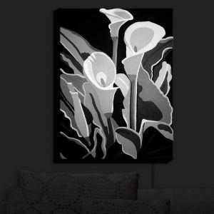 Nightlight Sconce Canvas Light | Angelina Vick - Calla Lilies Black White