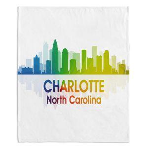 Decorative Fleece Throw Blankets | Angelina Vick - City I Charlotte North Carolina