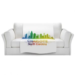 Artistic Sherpa Pile Blankets | Angelina Vick - City I Charlotte North Carolina