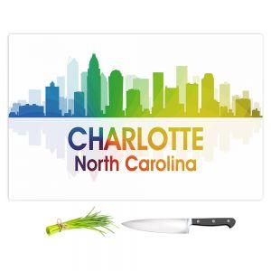 Artistic Kitchen Bar Cutting Boards | Angelina Vick - City I Charlotte North Carolina
