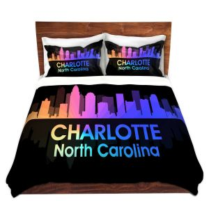 Artistic Duvet Covers and Shams Bedding | Angelina Vick - City V Charlotte North Carolina