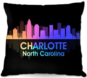 Throw Pillows Decorative Artistic | Angelina Vick - City V Charlotte North Carolina