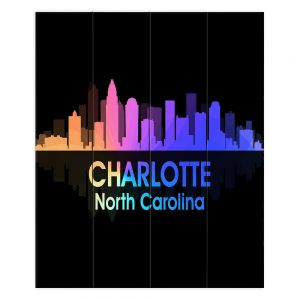 Decorative Wood Plank Wall Art | Angelina Vick - City V Charlotte North Carolina