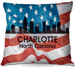 Decorative Outdoor Patio Pillow Cushion | Angelina Vick - City VI Charlotte North Carolina