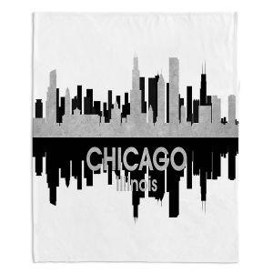 Decorative Fleece Throw Blankets | Angelina Vick - City IV Chicago Illinois