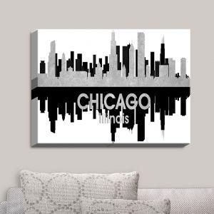 Decorative Canvas Wall Art   Angelina Vick - City IV Chicago Illinois   City Skyline Mirror Image