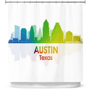 Premium Shower Curtains | Angelina Vick - City I Austin Texas