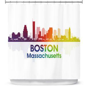 Premium Shower Curtains | Angelina Vick - City I Boston Massachusetts