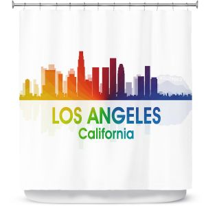 Premium Shower Curtains | Angelina Vick - City I Los Angeles California