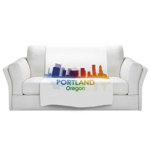 Artistic Sherpa Pile Blankets | Angelina Vick - City I Portland Oregon