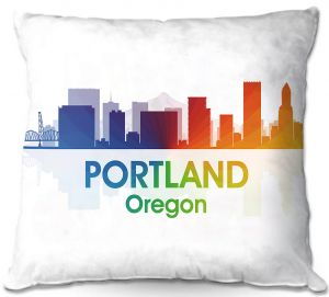 Decorative Outdoor Patio Pillow Cushion | Angelina Vick - City I Portland Oregon