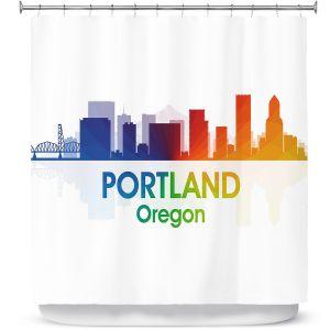 Premium Shower Curtains | Angelina Vick - City I Portland Oregon