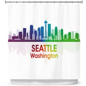Premium Shower Curtains | Angelina Vick - City I Seattle Washington