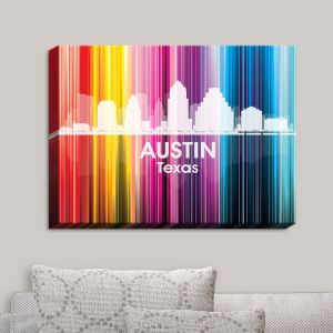 Decorative Canvas Wall Art   Angelina Vick - City II Austin Texas