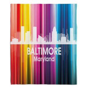 Decorative Fleece Throw Blankets | Angelina Vick - City II Baltimore Maryland
