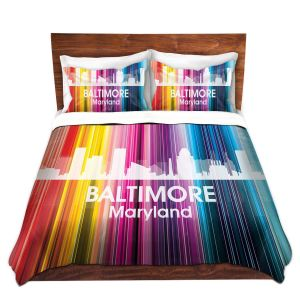 Artistic Duvet Covers and Shams Bedding   Angelina Vick - City II Baltimore Maryland