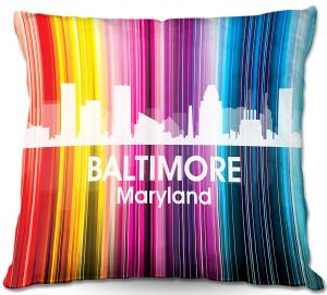 Throw Pillows Decorative Artistic | Angelina Vick's City II Baltimore MD