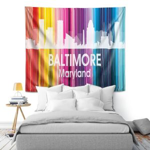 Artistic Wall Tapestry | Angelina Vick City II Baltimore Maryland