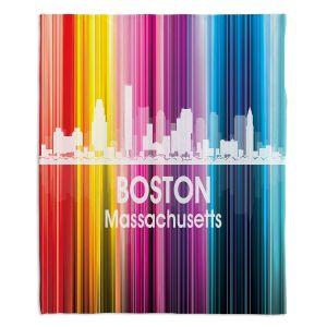 Decorative Fleece Throw Blankets | Angelina Vick - City II Boston Massachusetts