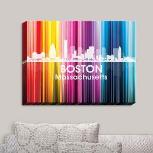 Decorative Canvas Wall Art   Angelina Vick - City II Boston Massachusetts