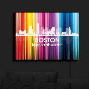 Nightlight Sconce Canvas Light | Angelina Vick - City II Boston Massachusetts