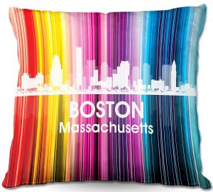 Throw Pillows Decorative Artistic | Angelina Vick's City II Boston MA