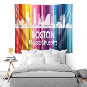 Artistic Wall Tapestry | Angelina Vick City II Boston Massachusetts