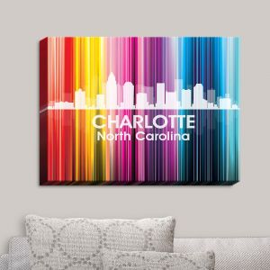 Decorative Canvas Wall Art | Angelina Vick - City II Charlotte North Carolina