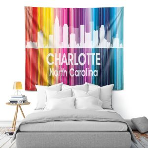Artistic Wall Tapestry | Angelina Vick City II Charlotte North Carolina