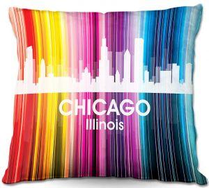 Decorative Outdoor Patio Pillow Cushion | Angelina Vick - City II Chicago Illinois
