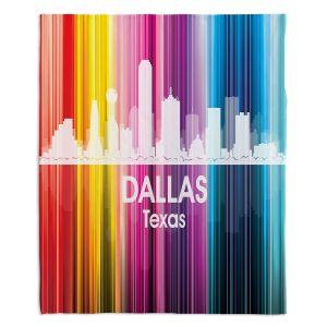 Decorative Fleece Throw Blankets | Angelina Vick - City II Dallas Texas